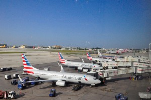 American planes at the gate in Miami